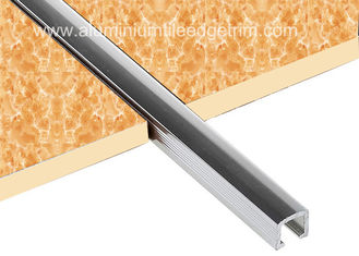 10mm Chrome Listello Tile Trim , Aluminium U Shaped Bar Listello Border