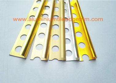 External Corner Aluminium Tile Edge Trim , Metal Edge Trim For Ceramic Tile